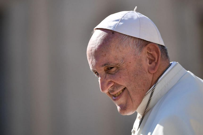 "North Korean leader Kim Jong Un said Pope Francis (pictured) would be given an ""an enthusiastic welcome"" if he visits North Korea."