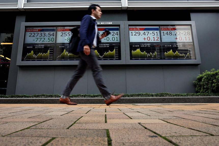 The benchmark Nikkei 225 index was down 1.06 per cent, or 239.23 points, at 22,351.63 at the open.