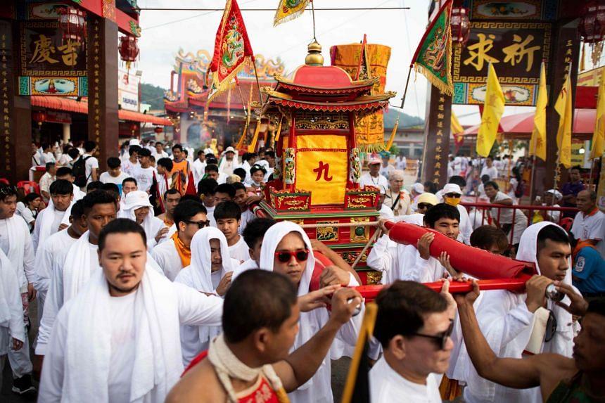 "The Taoist ""Nine Emperor Gods"" event began in Phuket on Oct 9, 2018."