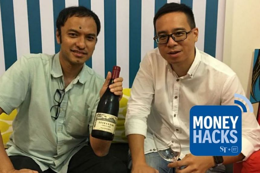 Money Hacks co-hosts Ernest Luis (left) and Chris Lim share in this podcast a five-step approach to wine collection, investment and enjoyment with local food.