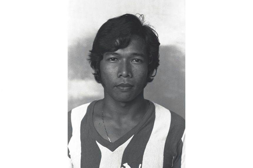 Former national footballer Arshad Khamis in his younger days. He is survived by his wife, three children and seven grandchildren.