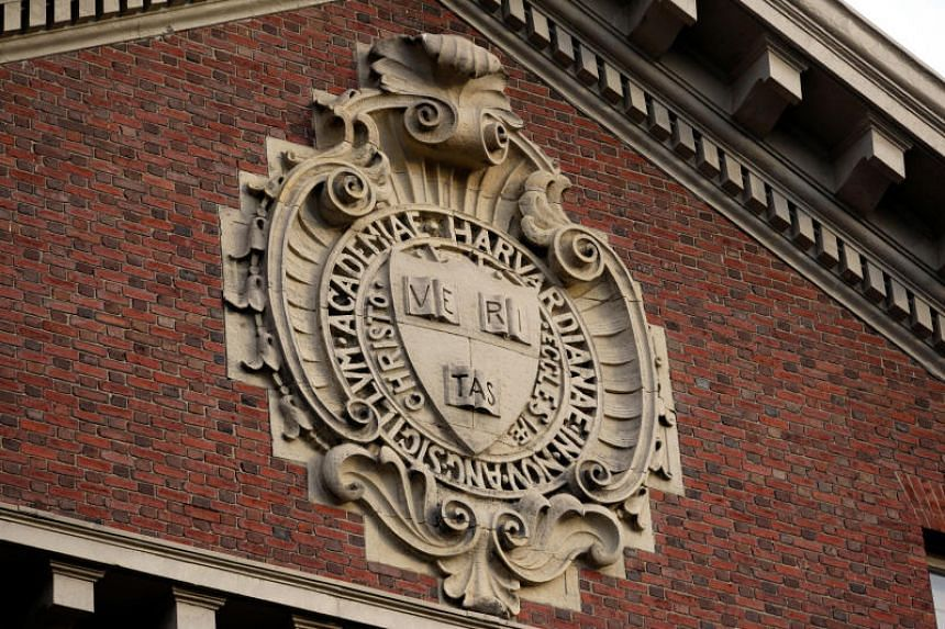 A seal at a Harvard University building in Cambridge, Massachusetts. A lawsuit against the school may give the newly conservative majority US Supreme Court a chance to bar affirmative action in college admissions.