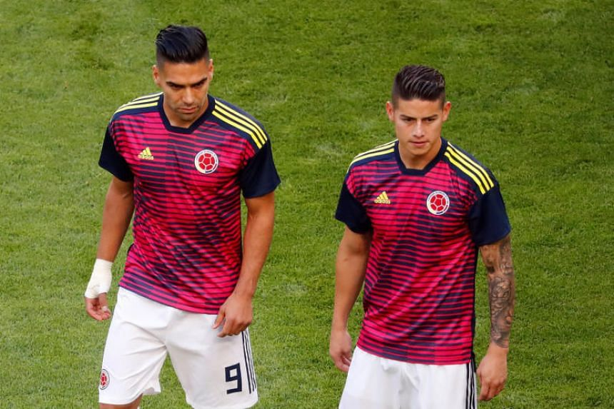 Colombia's Radamel Falcao (left) and James Rodriguez thrilled the crowd at the Raymond James Stadium in Tampa, Florida, leading their team to a 4-2 win against the United States.