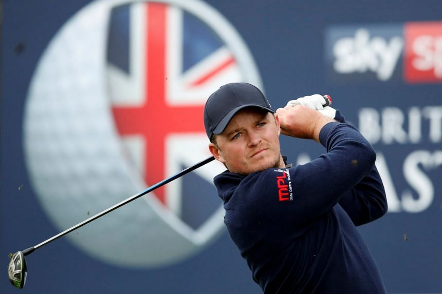 England's Eddie Pepperell during the second round.