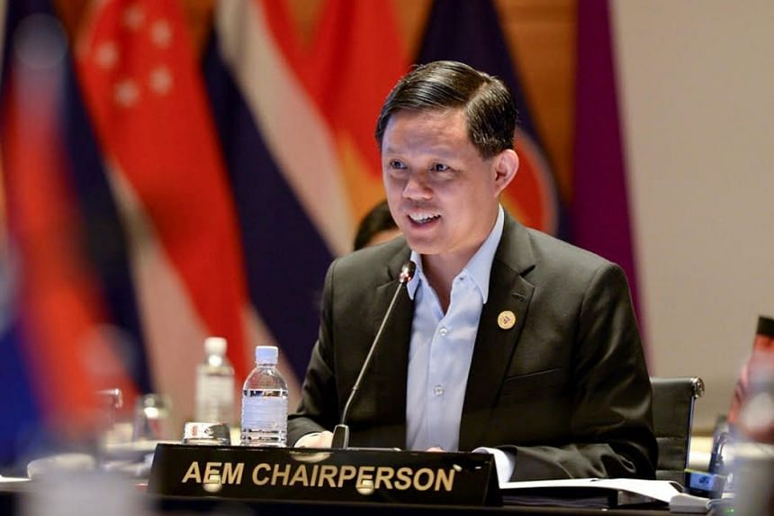 Mr Chan Chun Sing, Minister for Trade and Industry, addressing the meeting.