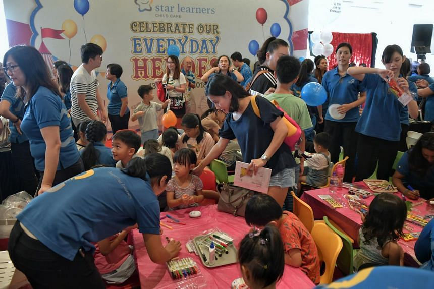 Star Learners Child Care organised a fun fair at Downtown East on Oct 13, 2018, to raise funds for The Straits Times School Pocket Money Fund  and The Business Times Budding Artist Fund.