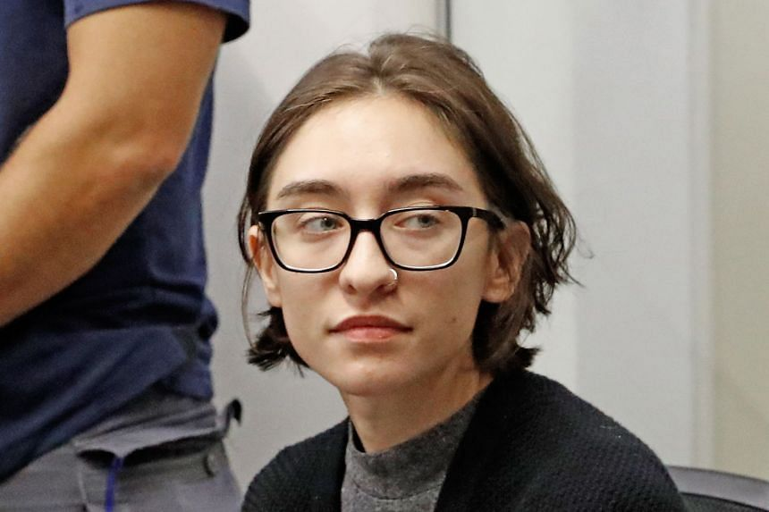 Alqasem sits for a hearing at the Tel Aviv district Court on Oct 11, 2018.