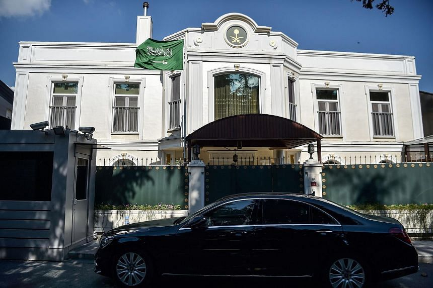 The Saudi Arabian consulate in Istanbul. Saudi journalist Jamal Khashoggi was last seen entering the building on Oct 2.