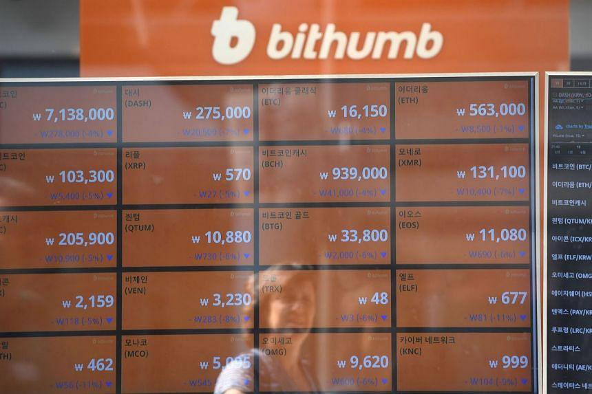 BK Global Consortium bought a 50 per cent stake plus one share in Bithumb from shareholder BTC Holdings for about 400 billion won (S$486 million).
