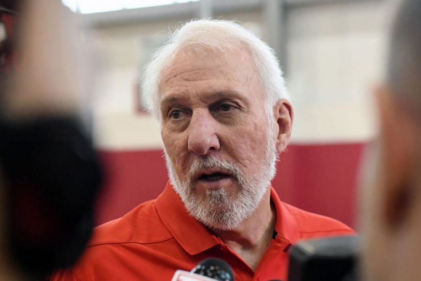 Popovich (above, in a file photo) said point guard White will miss six to eight weeks with a right heel injury.