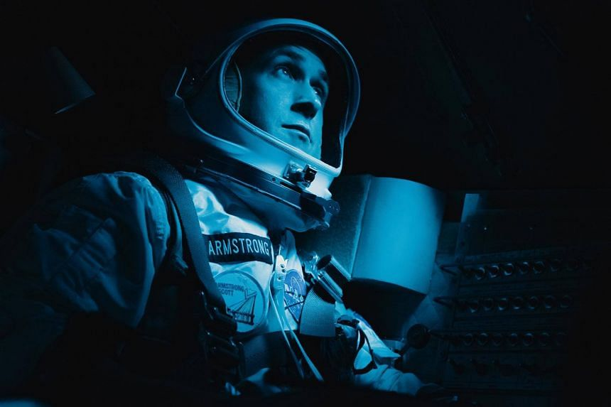 Ryan Gosling as Neil Armstrong in First Man, a biopic directed by Damien Chazelle that opened in the US last Friday (Oct 12).