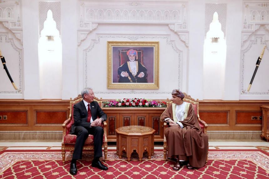 Deputy Prime Minister and Coordinating Minister for National Security Teo Chee Hean called on Oman's Prime Minister for the Council of Ministers Sayyid Fahd Mahmoud Al Said on Oct 14, 2018.