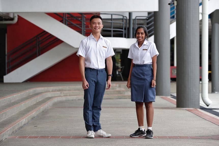 Eight junior colleges are merging into four next year, including Anderson JC whose students (above) are joining hands with their Serangoon JC peers. As well as developing new facilities and upgrading existing ones, the merged JCs have also been desig