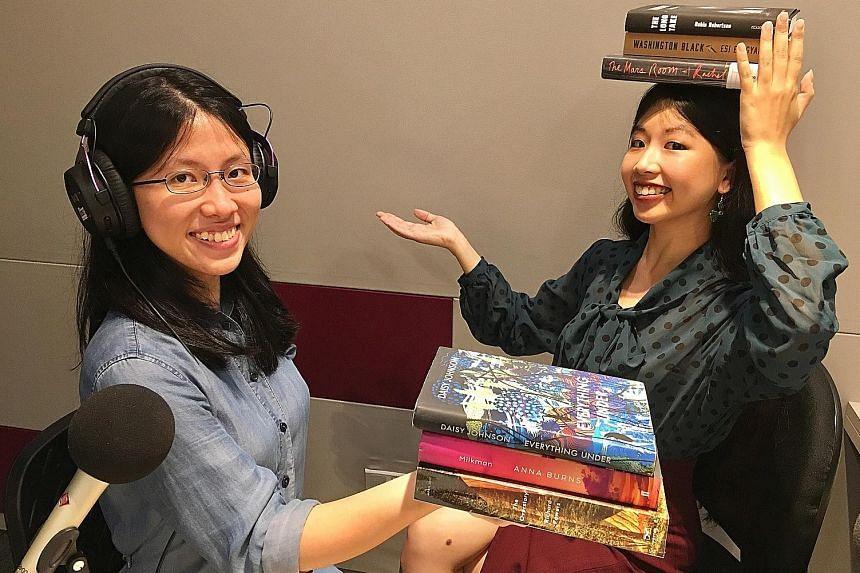 Straits Times journalists Toh Wen Li (left) and Olivia Ho.
