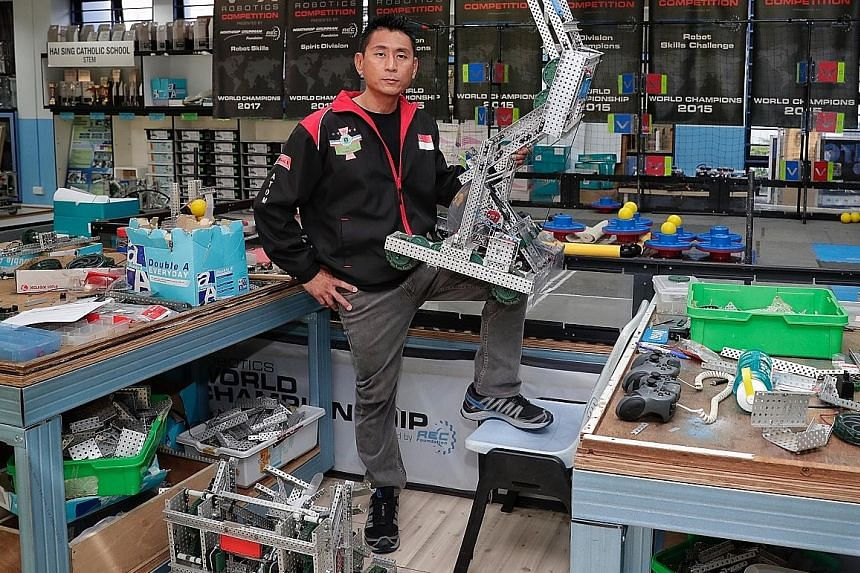 Under the guidance of Mr Teo Yee Ming, Hai Sing Catholic School has emerged victorious in the middle-school category in the VEX Robotics World Championship four times.