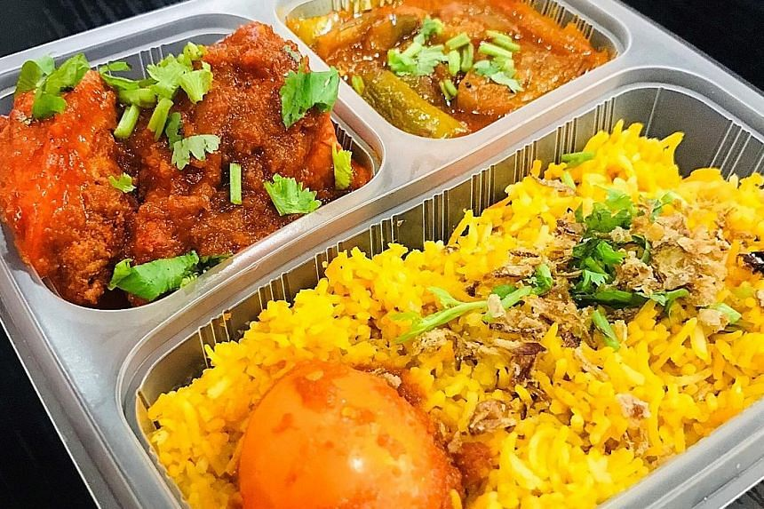 Expect a briyani rice set from Best Food Caterer - Casuarina Curry on Wednesday