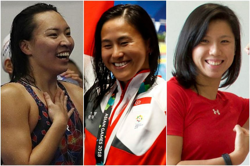 For swimmers Roanne Ho (left), Quah Ting Wen (centre) and Amanda Lim, there is a sense of unfinished business.