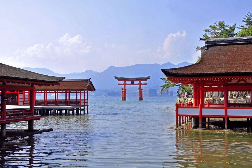 The Unesco World Heritage Site, Itsukushima Shrine, is regarded as one of the most beautiful landmarks in Japan. Built over water, this Shinto monument is famous for its torii gate, appearing as though it is floating on the sea during high tide. PHOT
