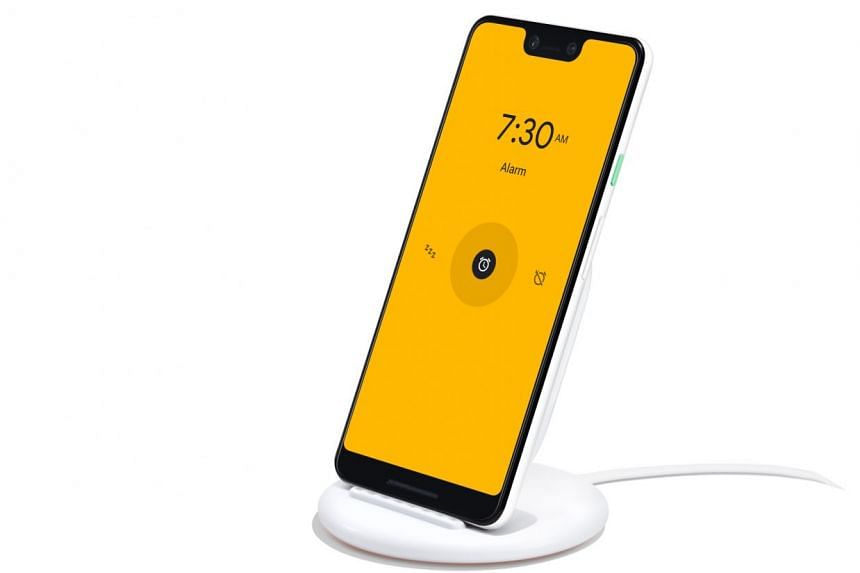 The new Pixel Stand wireless charger turns the Pixel 3 (when docked) into a personalised smart display with quick access to Google Assistant. It will show your photos and also display album art if a music app, like Spotify is playing a song on the phone.