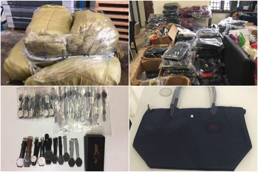 Preliminary investigations found that the man was selling counterfeit bags on various online platforms.