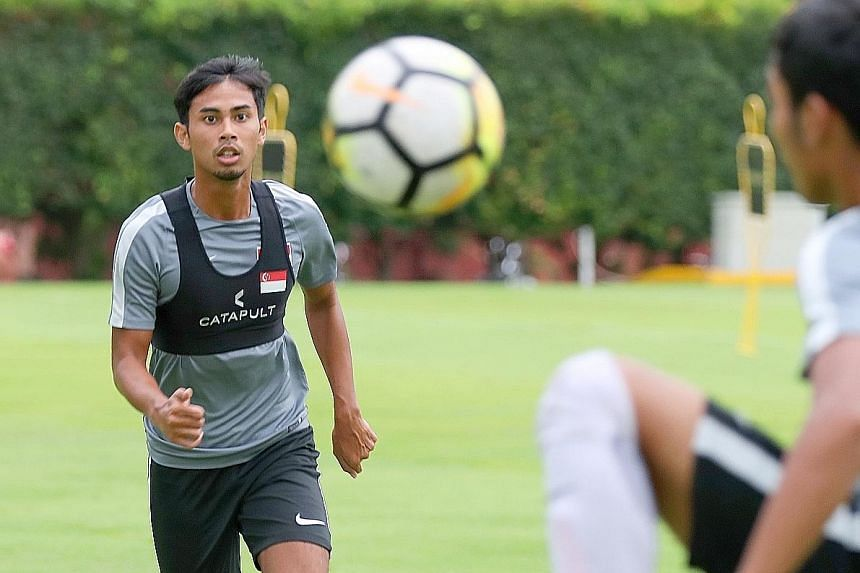 """Albirex Niigata midfielder Adam Swandi is one of five """"quality"""" attacking midfielders competing for three first XI positions at the disposal of interim national football coach Fandi Ahmad for tonight's friendly against Cambodia in Phnom Penh."""