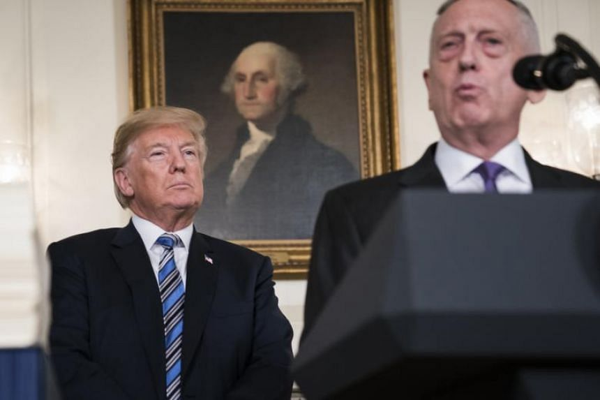 """US Defence Secretary Mattis said he had not spoken to US President Donald Trump about the comments on """"60 Minutes"""" and didn't watch the interview."""