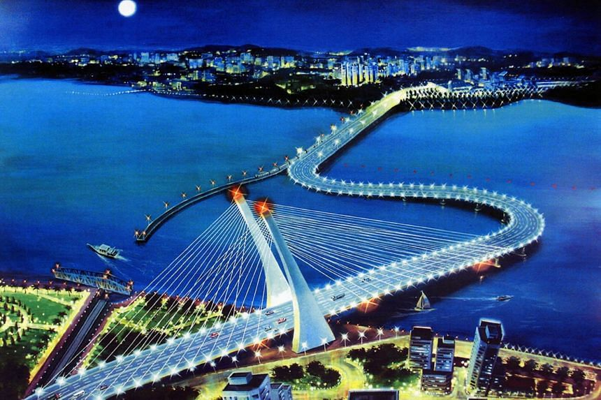The crooked bridge project was mooted by Malaysian Prime Minister Mahathir Mohamad before he retired as premier in 2003.