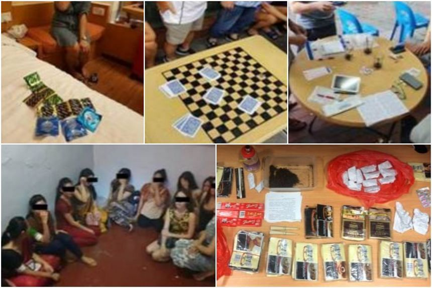 The authorities apprehended 26 men and one woman for gambling-related offences in King George's Avenue, Banda Street, Telok Blangah Crescent and Jalan Bukit Merah. Cash amounting to $3,567 was seized.