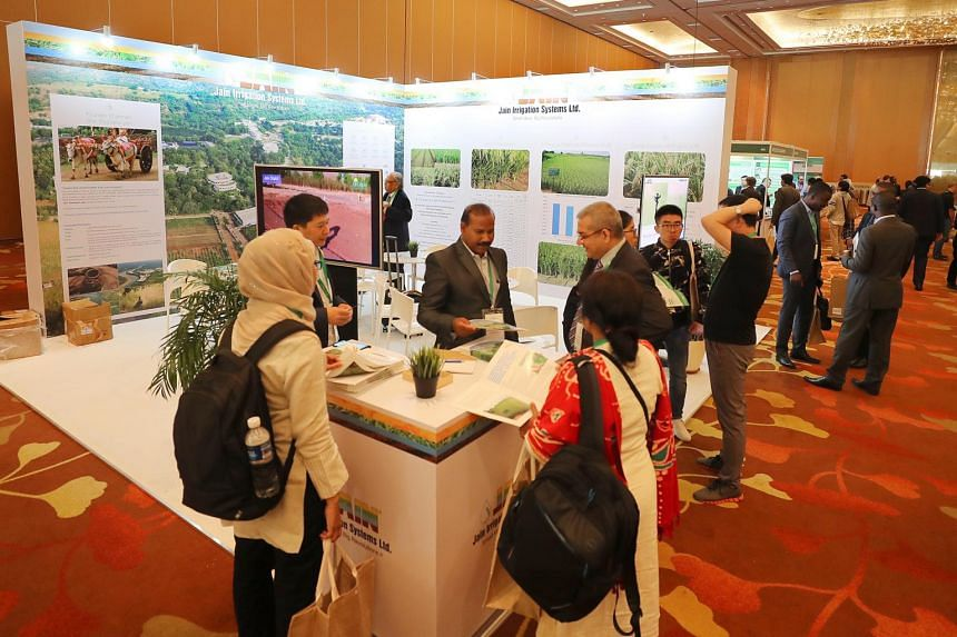 The fifth International Rice Congress at Marina Bay Sands. Crop Trust signed an agreement with the International Rice Research Institute (Irri) during the congress on Oct 16, 2018, to fund Irri to the tune of US$1.4 million (S$1.9 million) a year.