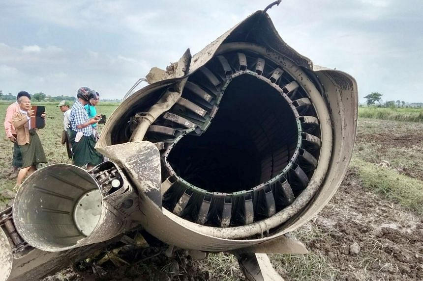 The planes apparently struck a broadcast tower in the Magway region of central Myanmar on Oct 16, 2018.