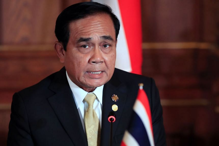 """Thailand's premier Prayut Chan-O-Cha's persona was displayed on his newly launched Facebook page in a post asking for """"suggestions"""" from his followers on his government's policies, on Oct 14, 2018."""