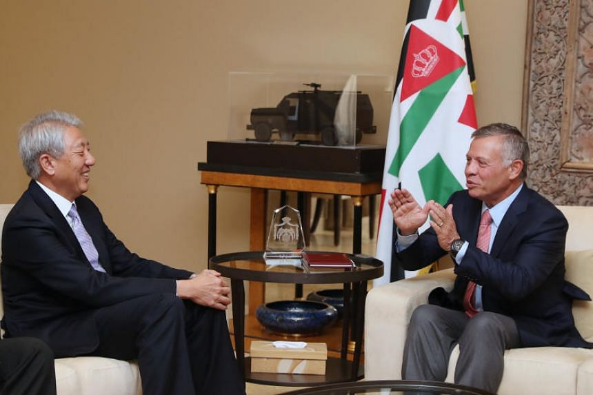 Deputy Prime Minister Teo Chee Hean had an audience with Jordan's King Abdullah II on Oct 15, 2018.