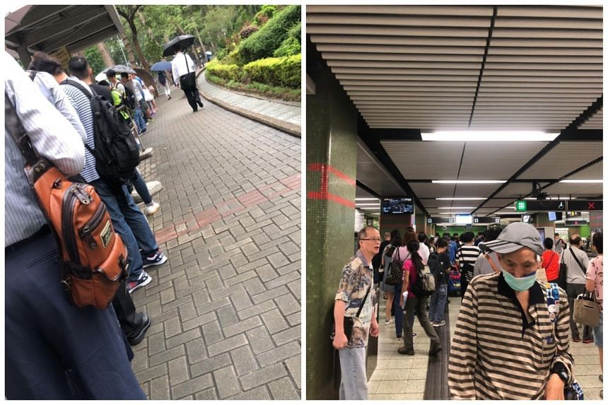 The MTR disruption lasted six hours. Many commuters were forced to turn to alternative public transport and there were snaking queues at bus stations and taxi stands.