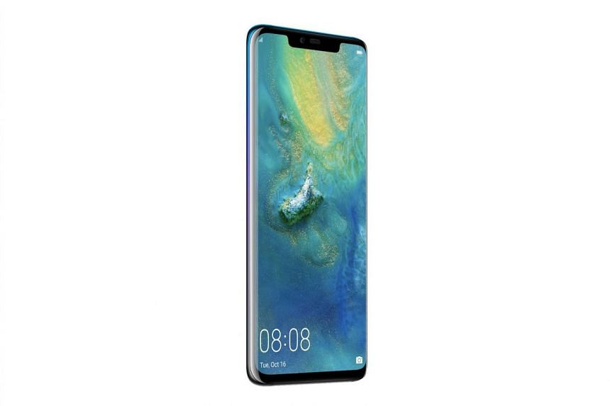 The Huawei Mate 20 Pro can act like a battery pack and wirelessly charge other devices that support the Qi wireless charging standard.