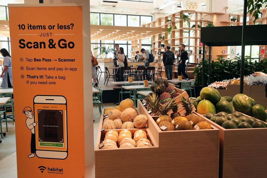 The cashless store, the first of its kind in Singapore, is a rare move by a tech start-up into the brick-and-mortar retail space.