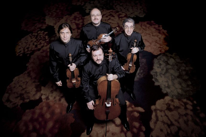 Clockwise from left: Members of the Borodin Quartet Igor Naidin (viola), Sergei Lomovsky (violin) and Ruben Aharonian (violin) and Vladimir Balshin (cello).