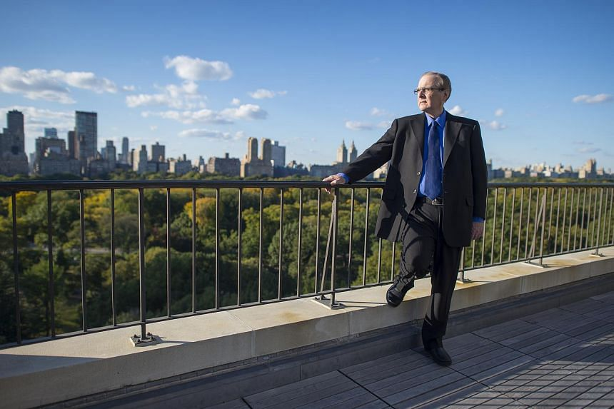 Microsoft co-founder Paul Allen on his penthouse terrace overlooking Central Park in New York, on Oct 15, 2015.