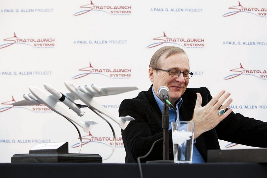 Microsoft co-founder Paul Allen at a news conference at his company Vulcan to announce Stratolaunch Systems in Seattle, on Dec 13, 2011.