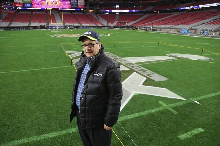 Seattle Seahawks owner and Microsoft co-founder Paul Allen stands in the University of Phoenix Stadium the day before the NFL Super Bowl XLIX, in Glendale, Arizona, on Jan 31, 2015.