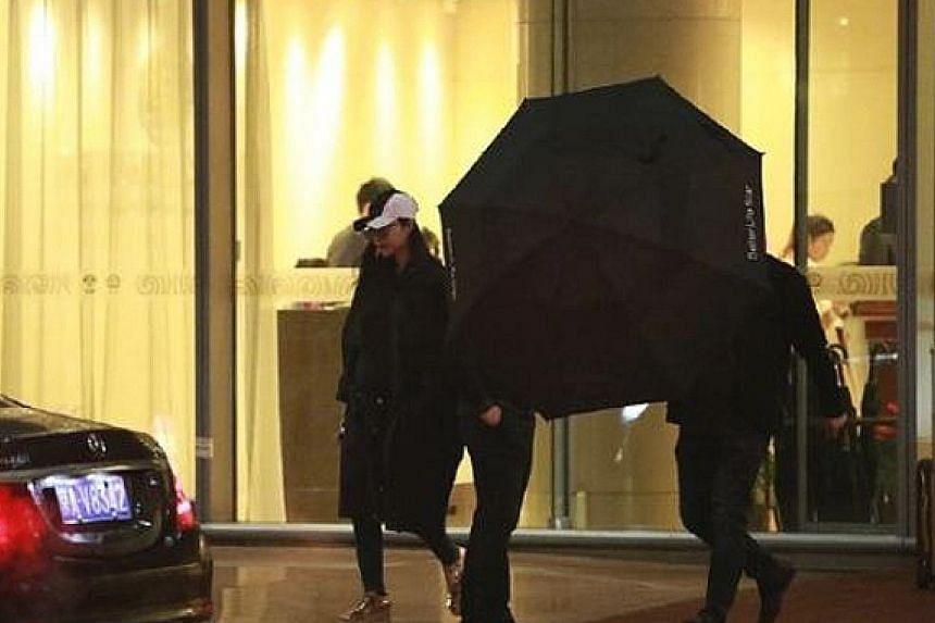 Fan Bingbing was seen dressed in black attire.