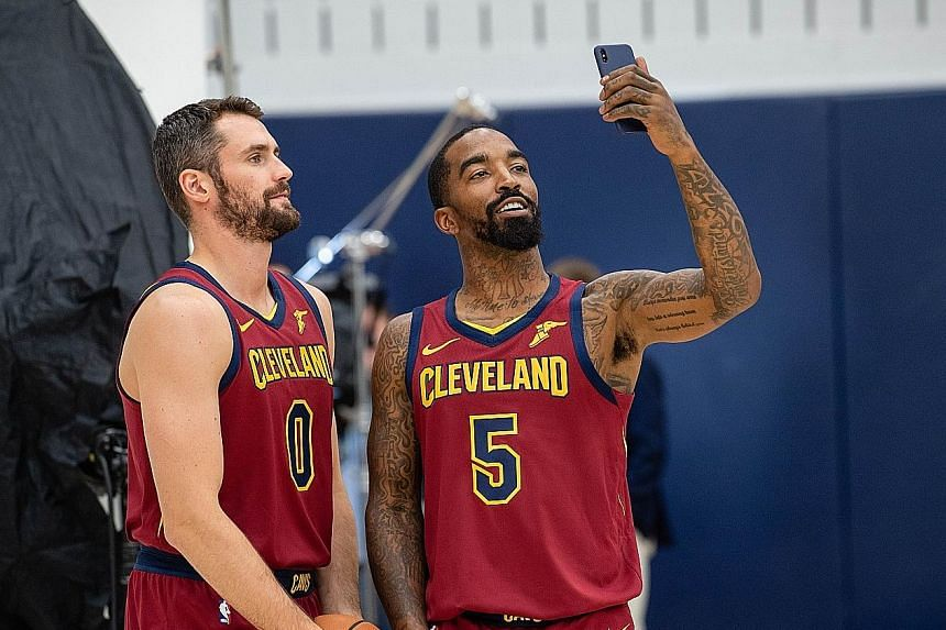 Cleveland forward Kevin Love (left, with J. R. Smith), signed a $165.2 million four-year extension to his contract in July.