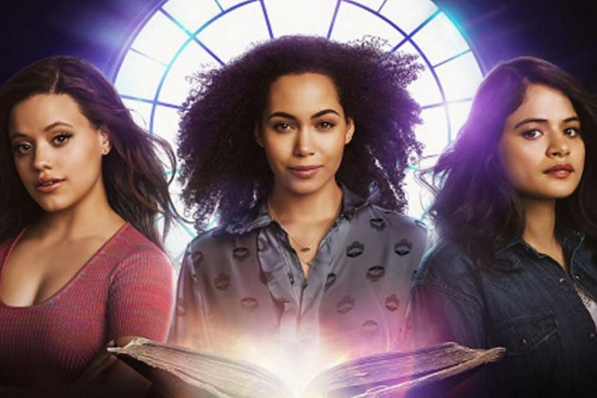 Cast of the new Charmed series (from left to right) Sarah Jeffery, Madeleine Mantock and Melonie Diaz.