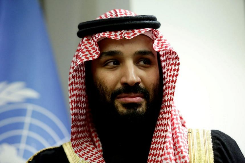 Saudi Arabia's Crown Prince Mohammed bin Salman attending a meeting at the United Nations headquarters in New York, on March 27, 2018.
