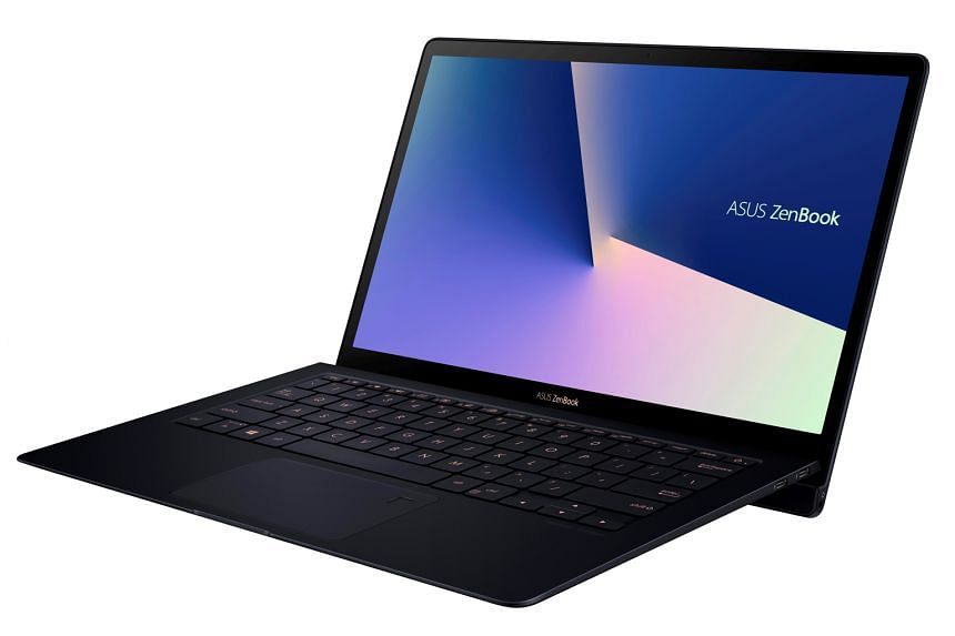 The Asus ZenBook S (UX391) has a hinge that raises the keyboard at an angle.