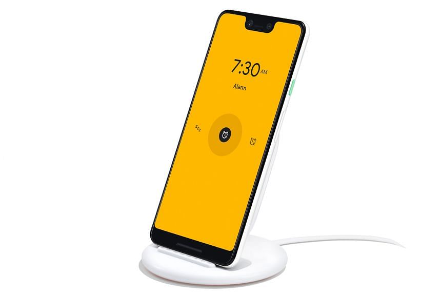 Pixel Stand wireless charger ($119, above, with the Pixel 3 XL).