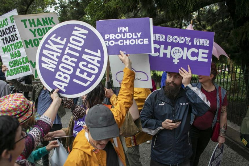A rally in Brisbane ahead of Queensland's abortion laws on Oct 14, 2018. Restrictions on abortion vary by jurisdiction in Australia.