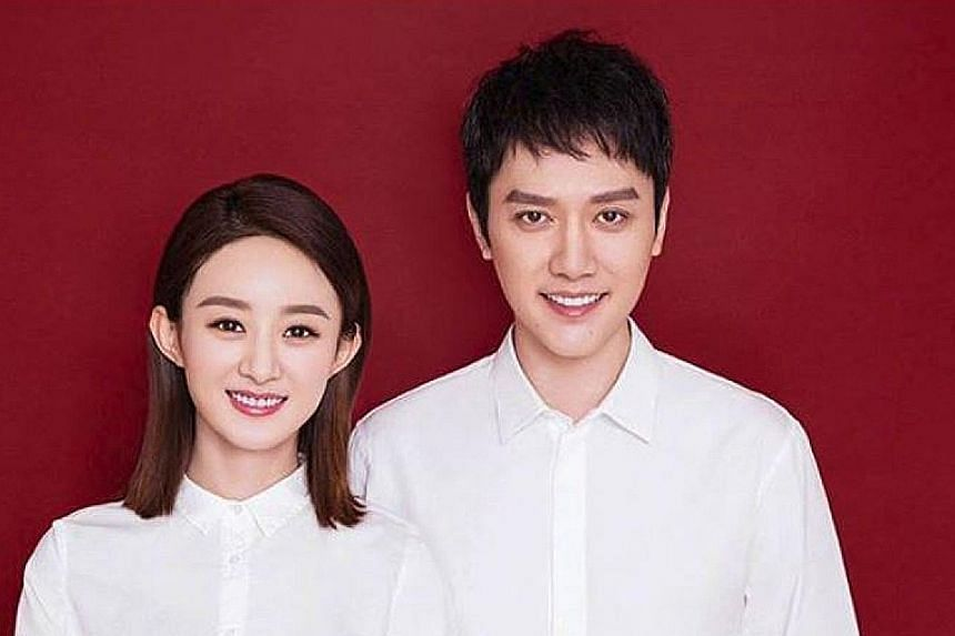 """The news of the marriage emerged at 10.07am on Tuesday, with fans instantly recognising the link to the birthdays of actors Feng Shaofeng (Oct 7) and Zhao Liying (Oct 16), respectively. To erase any uncertainty, Feng wrote """"Happy birthday, dear wife"""""""