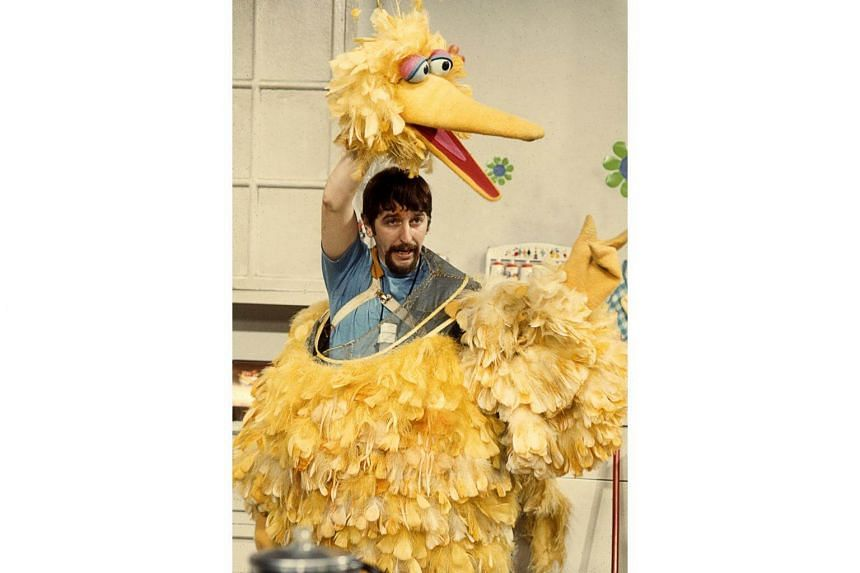 Puppeteer Caroll Spinney as Big Bird in the early 1970s.