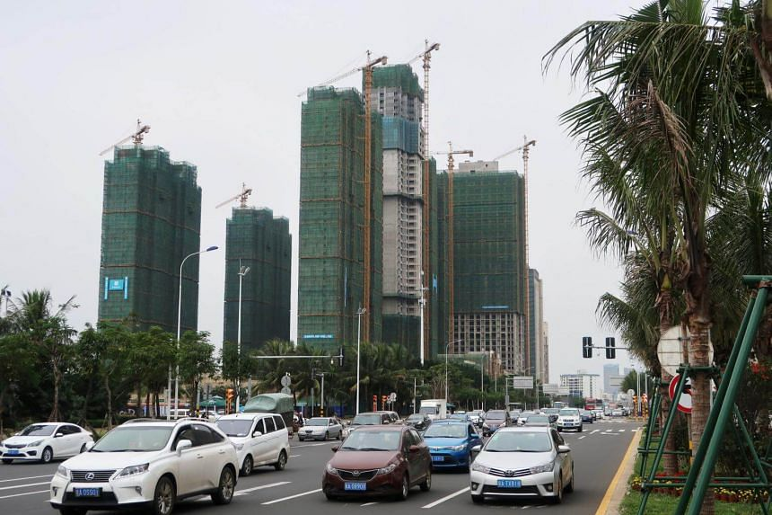 Office towers under construction in Hainan, China, on Jan 11, 2018. The Chinese government has unveiled plans to develop Hainan into a pilot free trade zone.