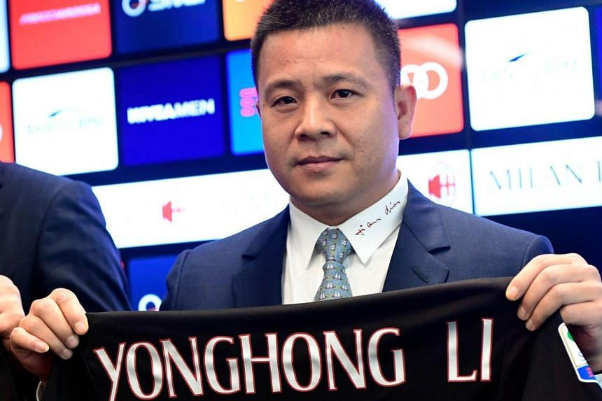 Former owner of AC Milan Li Yonghong has been added to China's national blacklist of untrustworthy individuals.